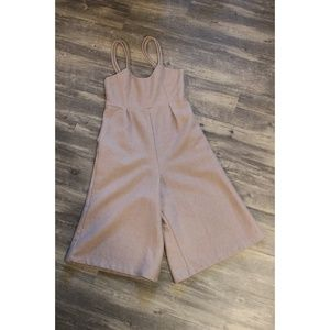 Light Violet Jumpsuit Wide Legged with pockets - S